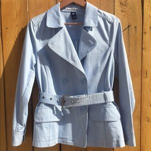 Gap Light Blue Belted Trench Coat